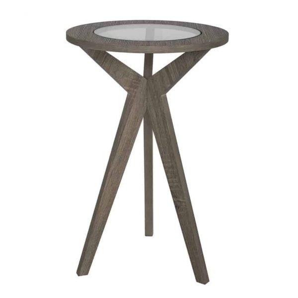ERIN PLANT STAND OAK STYLE VENEER WITH GLASS TOP  Thompsons Lighting & Interiors