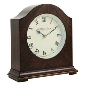 BREAK ARCH WOODEN MANTEL CLOCK