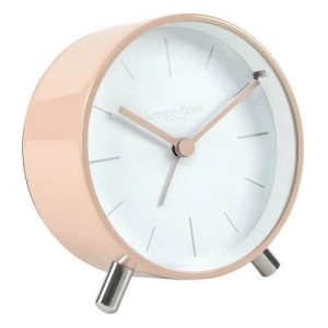 BLUSH METAL ALARM CLOCK