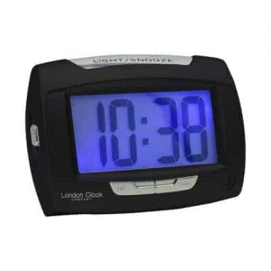 LONDON CLOCK RECTANGLE BLACK DIGITAL ALARM CLOCK