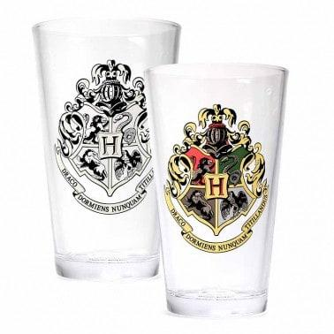 HARRY POTTER COLD CHANGING LARGE GLASS - HOGWARTS CREST  Thompsons Lighting & Interiors