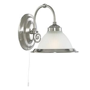 AMERICAN DINER SATIN SILVER WALL LIGHT