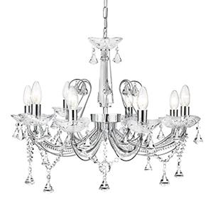 SEARCHLIGHT LAFAYETTE 8-Light Chandelier 1398-8CC