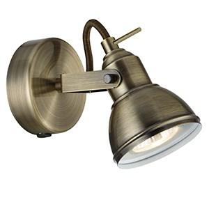 FOCUS 1 LIGHT ANTIQUE BRASS WALL SPOTLIGHT