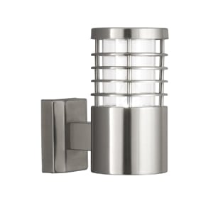 SATIN SILVER IP44 OUTDOOR LIGHT WITH POLYCARBONATE DIFFUSER