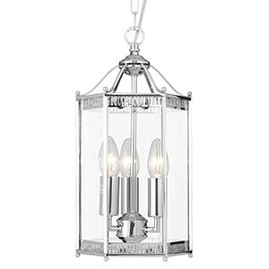 LANTERN CHROME 3 LIGHT HEXAGONAL