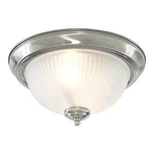 AMERICAN DINER CHROME FLUSH FITTING WITH ACID RIBBED GLASS