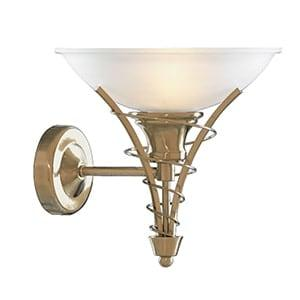Traditional Linee Antique Brass wall light