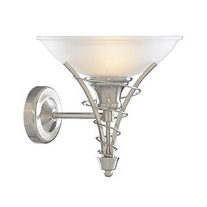 Traditional Linee satin silver wall light