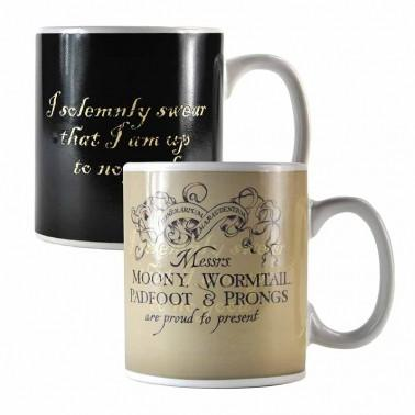 HARRY POTTER HEAT CHANGING MUG - MARAUDER'S MAP  Thompsons Lighting & Interiors