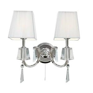 Traditional Portia Chrome 2-Light Wall Light