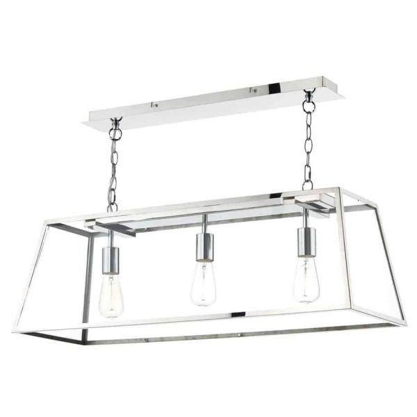 ACADEMY 3 LIGHT PENDANT STAINLESS STEEL  Thompsons Lighting & Interiors