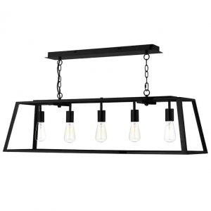ACADEMY 5 LIGHT PENDANT BLACK