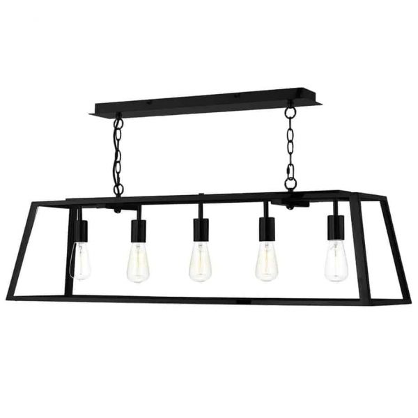 ACADEMY 5 LIGHT PENDANT BLACK  Thompsons Lighting & Interiors