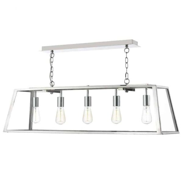 ACADEMY 5 LIGHT PENDANT STAINLESS STEELE  Thompsons Lighting & Interiors