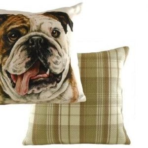 Waggydogz Boston Collection-Bull DogCushion
