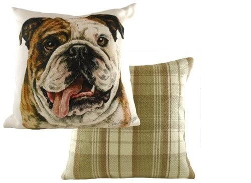 Waggydogz Boston Collection-Bull DogCushion  Thompsons Lighting & Interiors