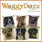 Waggydogz Boston Collection-King Charles Cushion