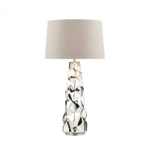 GIUSEPPE TABLE LAMP SILVER COMPLETE WITH SHADE