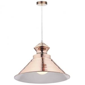 DAUPHINE 1 LIGHT PENDANT COPPER