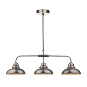 DYNAMO 3 LIGHT BAR PENDANT ANTIQUE CHROME