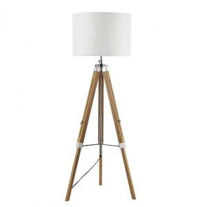 EASEL TRIPOD FLOOR LAMP LIGHT WOOD BASE ONLY