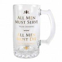 GAME OF THRONES GLASS TANKARD – ALL MEN