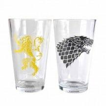GAME OF THRONES LARGE GLASSES – STARK & LANNISTER
