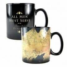 GAME OF THRONES HEAT CHANGING MUG - MAP  Thompsons Lighting & Interiors