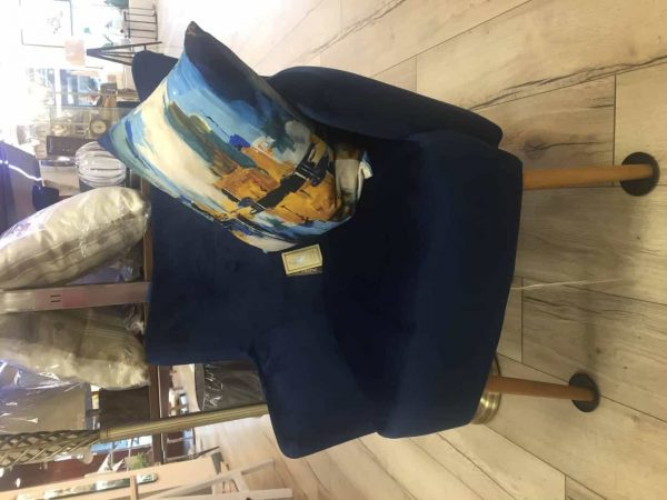 Blue Cobalt Occasional Arm Chair  Thompsons Lighting & Interiors