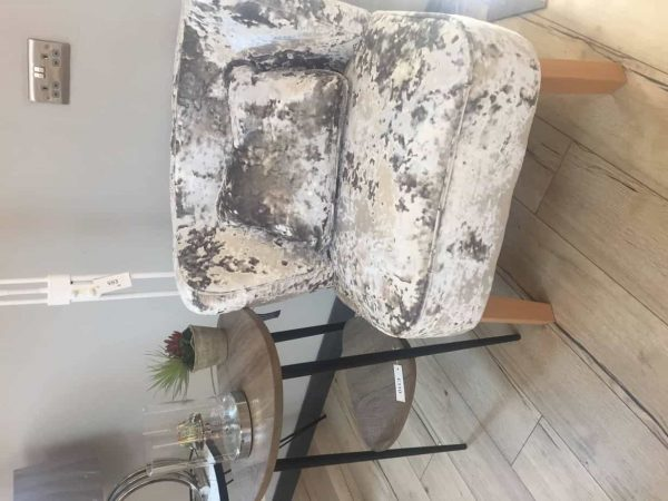 Crushed Silver Velvet Occasional chair  Thompsons Lighting & Interiors