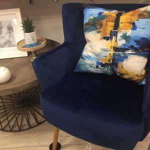 Blue Cobalt Occasional Arm Chair