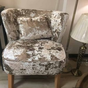 Gold Crushed Velvet Occasional Chair