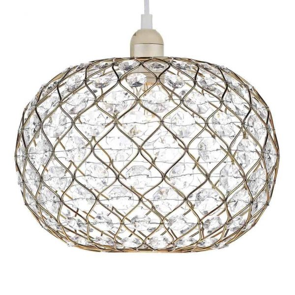 JUANITA SMALL EASY FIT GOLD FINISH  Thompsons Lighting & Interiors