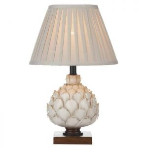 Layla Table Lamp Cream Small Complete With Shade
