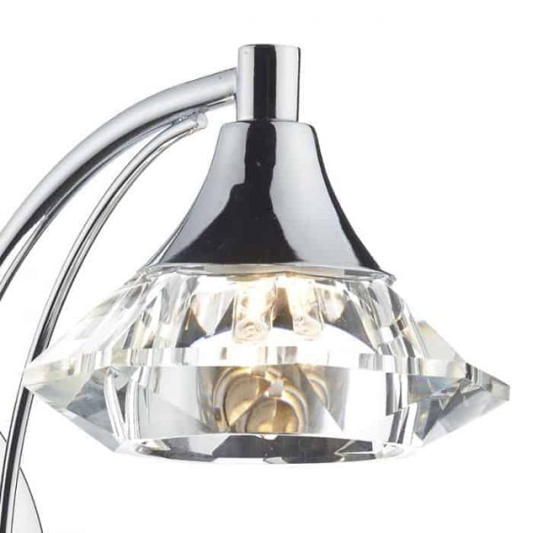 LUTHER SINGLE WALL LIGHT POLISHED CHROME  Thompsons Lighting & Interiors
