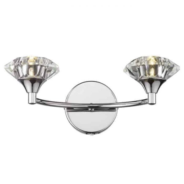 Luther Double Wall Light, Polished Chrome Thompsons Lighting & Interiors