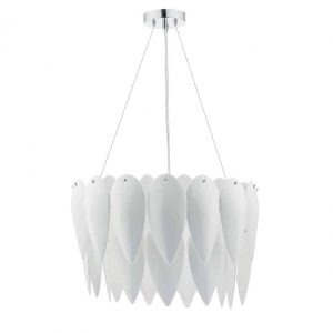 PHILLIPA 3 LIGHT PENDANT WHITE CERAMIC