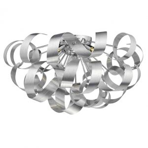 RAWLEY 5 LIGHT FLUSH BRUSHED ALUMINIUM