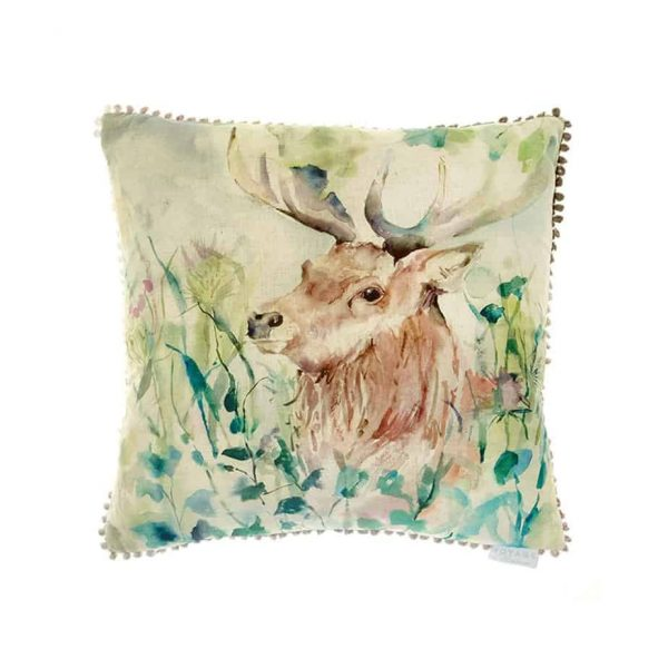 VOYAGE STAG CUSHION  Thompsons Lighting & Interiors