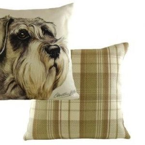 Waggydogz Boston Collection-Schnauzer Cushion