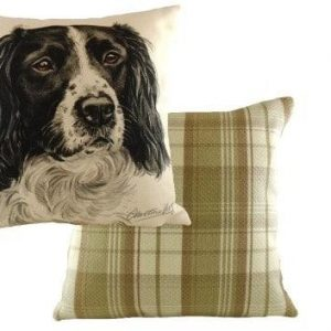 Waggydogz Boston Collection-Black Springer Spaniel Cushion