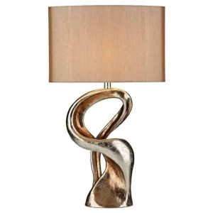 ALCHEMY TABLE LAMP GOLD RESIN COMPLETE WITH SHADE