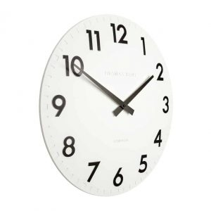 "20"" Wall Clock Cotton White"