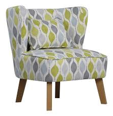 Grey & Green Chair with Cushion