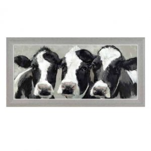 MILK COWS FRAMED PRINT