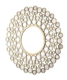 WAGON ROUND CIRCLES MIRROR GOLD 1060MM