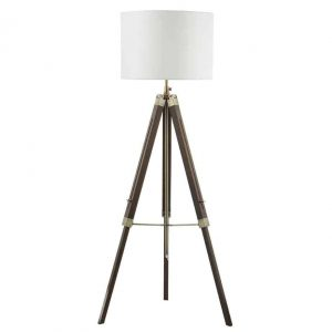 EASEL TRIPOD FLOOR LAMP DARK WOOD BASE ONLY