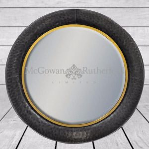 BRONZE LARGE ROUND WALL MIRROR