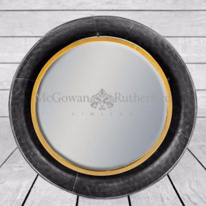 Bronze Medium Round Wall Mirror